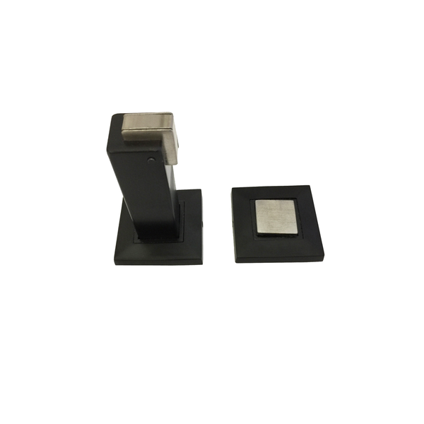 Matt Black Square Magnetic Door Stop - Luksus Australia - Black Tapware, Gold Tapware, Chrome Tapware, Black Fittings and Fixtures, Black Sinks