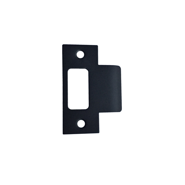 Asker - Extended Matt Black Tubular Latch Strike Plate