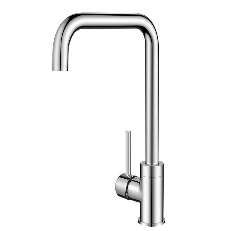 Asker - Round Chrome 360° Gooseneck Swivel Kitchen Sink Mixer Tap