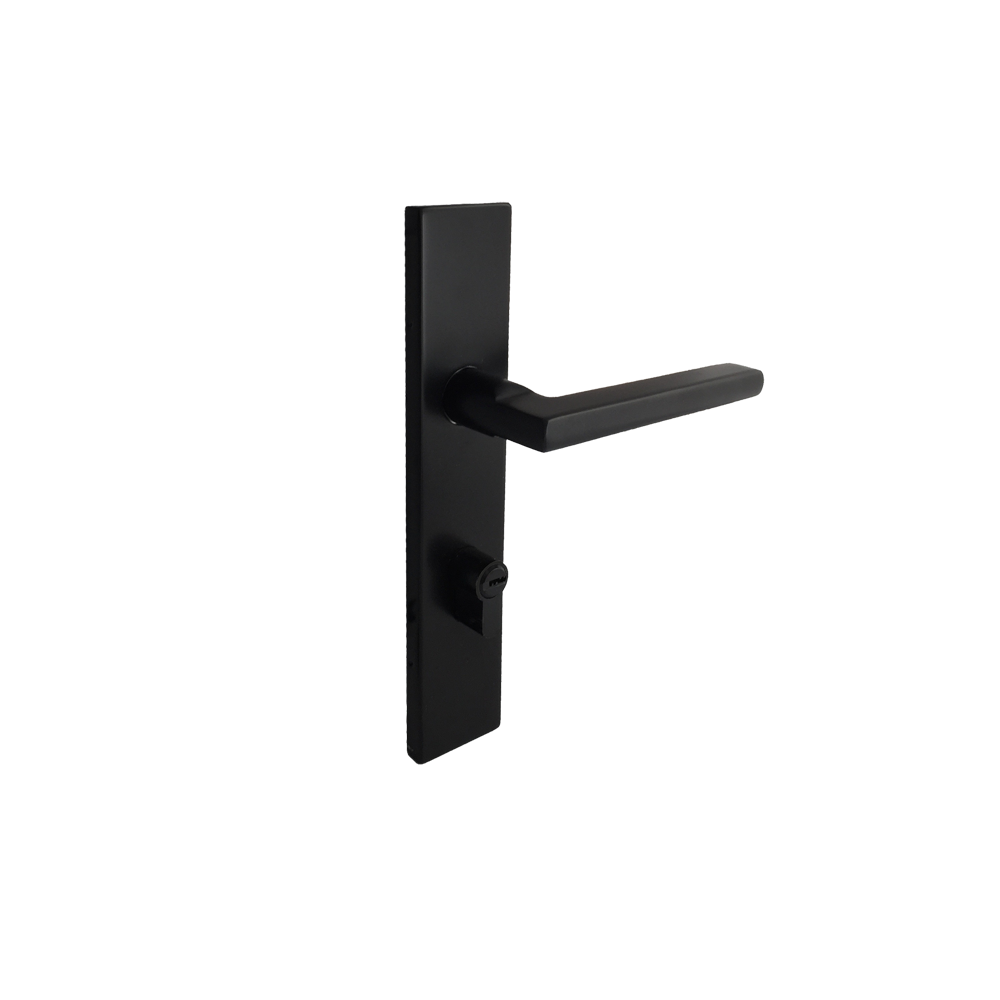 Matt Black Entrance Lock Set - Luksus Australia - Black Tapware, Gold Tapware, Chrome Tapware, Black Fittings and Fixtures, Black Sinks
