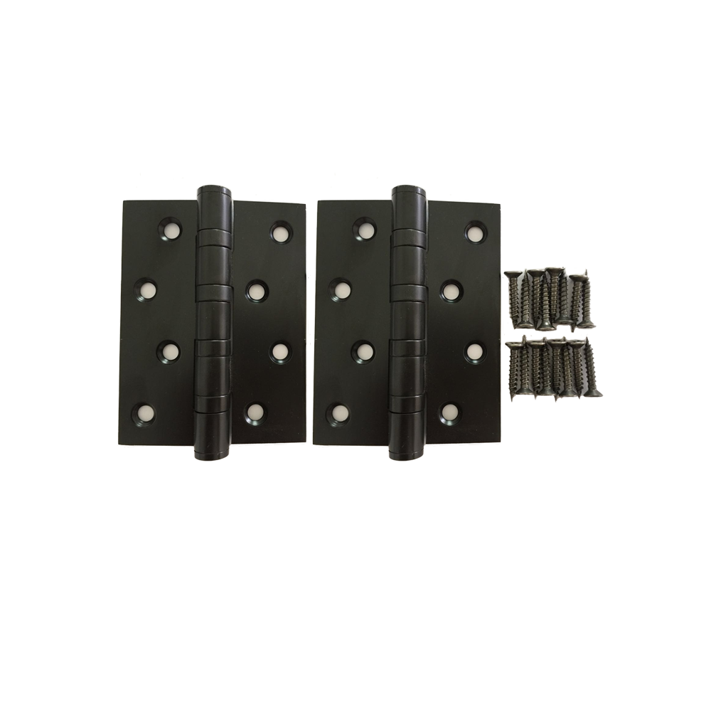 Matt Black Heavy Duty Stainless Steel Door Hinge set of two - Luksus Australia - Black Tapware, Gold Tapware, Chrome Tapware, Black Fittings and Fixtures, Black Sinks