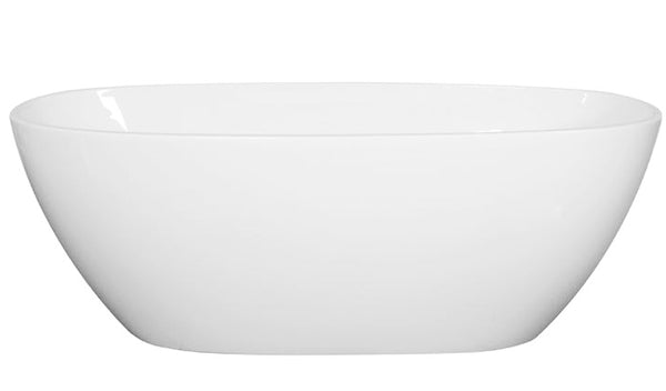 Asker - MATT White Oval Bathtub Freestanding Acrylic Bath tub NO Overflow [1700x810x590mm]