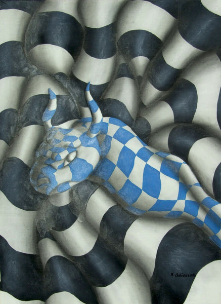 Massimo Castronuovo Snake Bull, 2002 Painting 122 x 92 cm