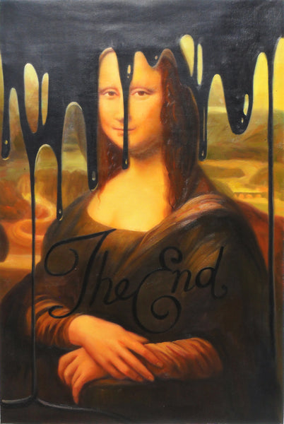 Miss Be - The End Mona Lisa, 2015 Painting 90 x 70 cm