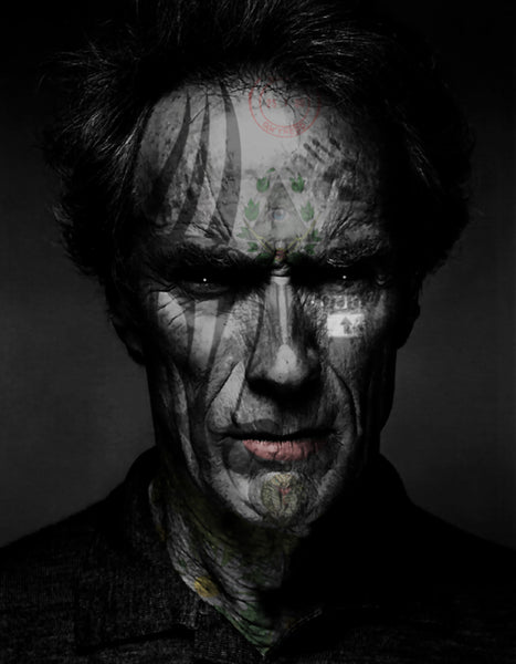 M  Tattoo Art - CE Clinton - Clint- Eastwood Jr. - MMXVII - I, 2016 Photography 90 x 70 cm
