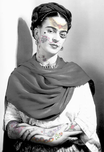 M  Tattoo Art - FK Frida Kahlo, 2017 Photography 95 x 65 cm