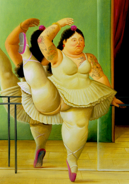 M  Tattoo Art - Homage Botero - Dancer by the bar, 2017 Photography 100 x 70 cm