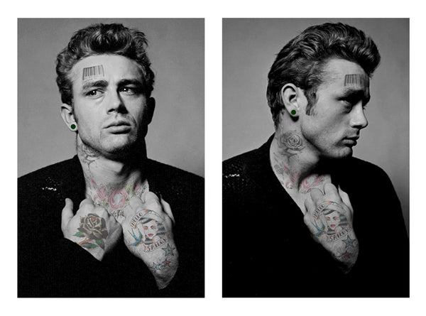 "M Tattoo Art - ""JD"" James Dean - My Intimacy , 2016 Photography 66 x 90 cm"