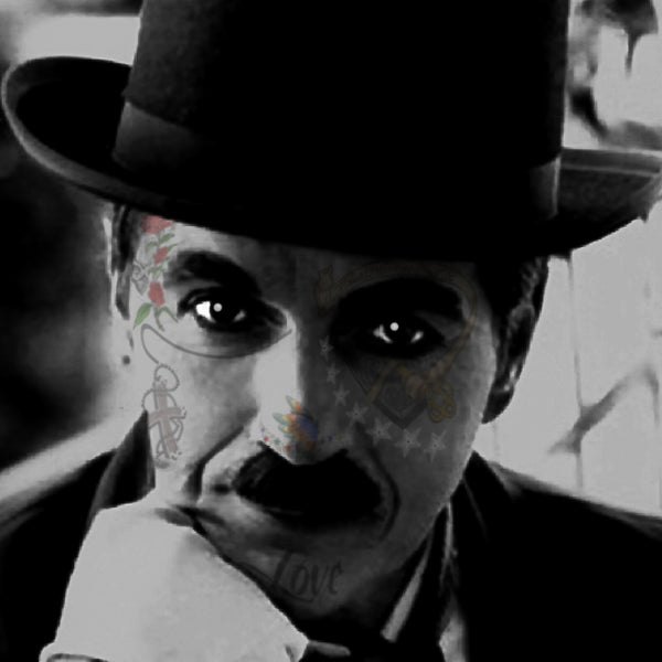 M  Tattoo Art - SCSC Sir Charles Spencer - Charlie Chaplin, 2017 Photography 70 x 70 cm
