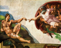 Tattoo Art M MB Michelangelo Buonarroti The Creation of Adam, 2011 Photography 72 x 90 cm