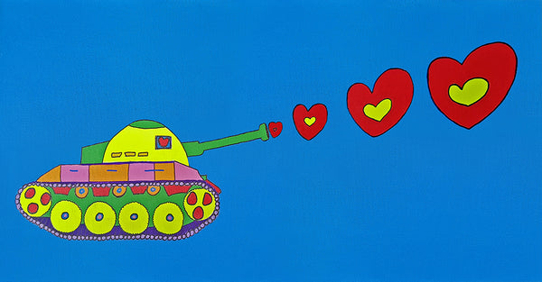 LOVE TANK , LOVE - NOT WAR by FORMAN_ACT