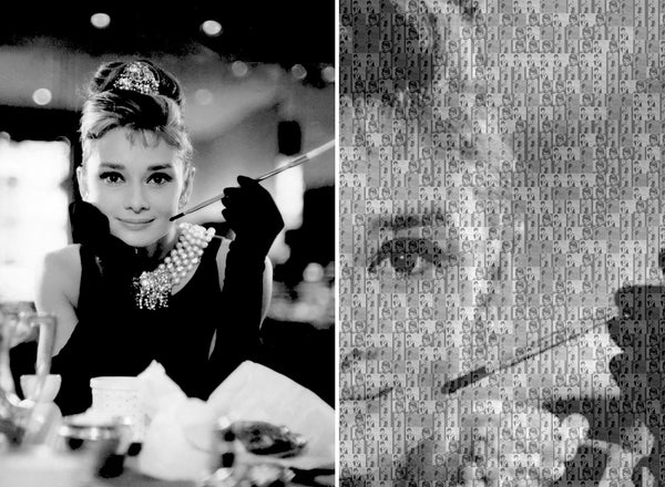 Bea Simpson - Audrey Hepburn Tiffany's Breakfast, 2016 Photography 66 x 90 cm - Gilardi Art Gallery