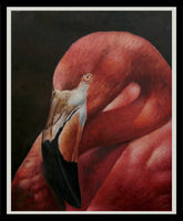 Grace Balzak - Flamingo, 2005 Painting 100 x 80 cm
