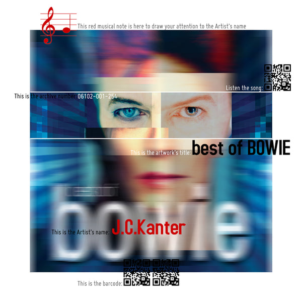 J.C. Kanter - The best of BOWIE, 2016 Photography 75 x 75 cm