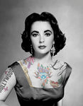 "M  Tattoo Art - ""ET II"" Elizabeth Taylor, 2011 Photography 90 x 70 cm"