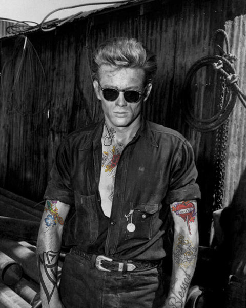 M Tattoo Art - JD - James Dean - MMXVI - III, 2016 Photography 90 x 70 cm