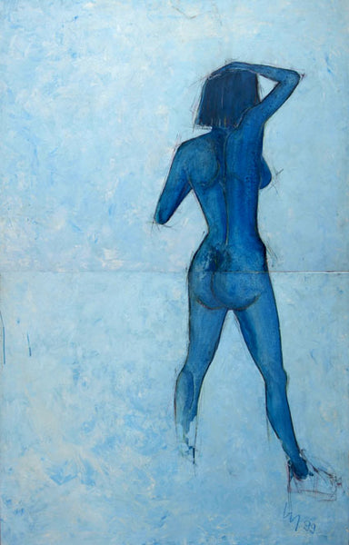 Martin Luck - Blue Lady, 1999 Painting 116 x 90 cm