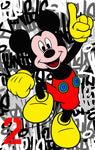 Stop - Mickey Mouse 2, 2016 Painting 110 x 70 x 6 cm - Gilardi Art Gallery