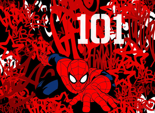 Stop - Spiderman 101, 2016 Painting 80 x 110 x 6 cm - Gilardi Art Gallery