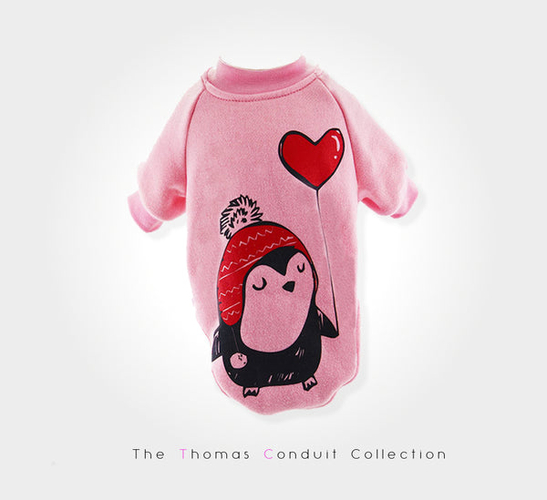 Sweater with penguin print