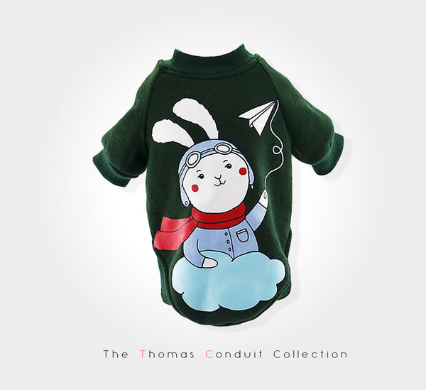 Sweater with rabbit print