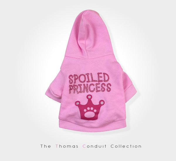 Pink hoodie for dogs