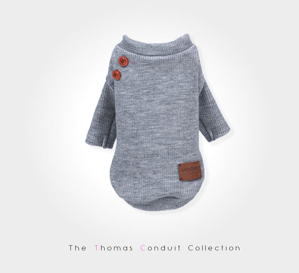 fashionable grey sweater for dogs