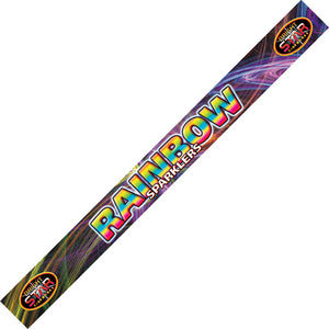 "Rainbow Sparklers 18"" (45cm) Coloured (Pack of 4) - BUY 1 GET 1 FREE"