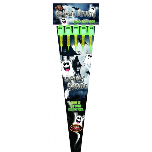 Spooky Spirits Glow in the Dark - 1.3G Pack of 5 rockets