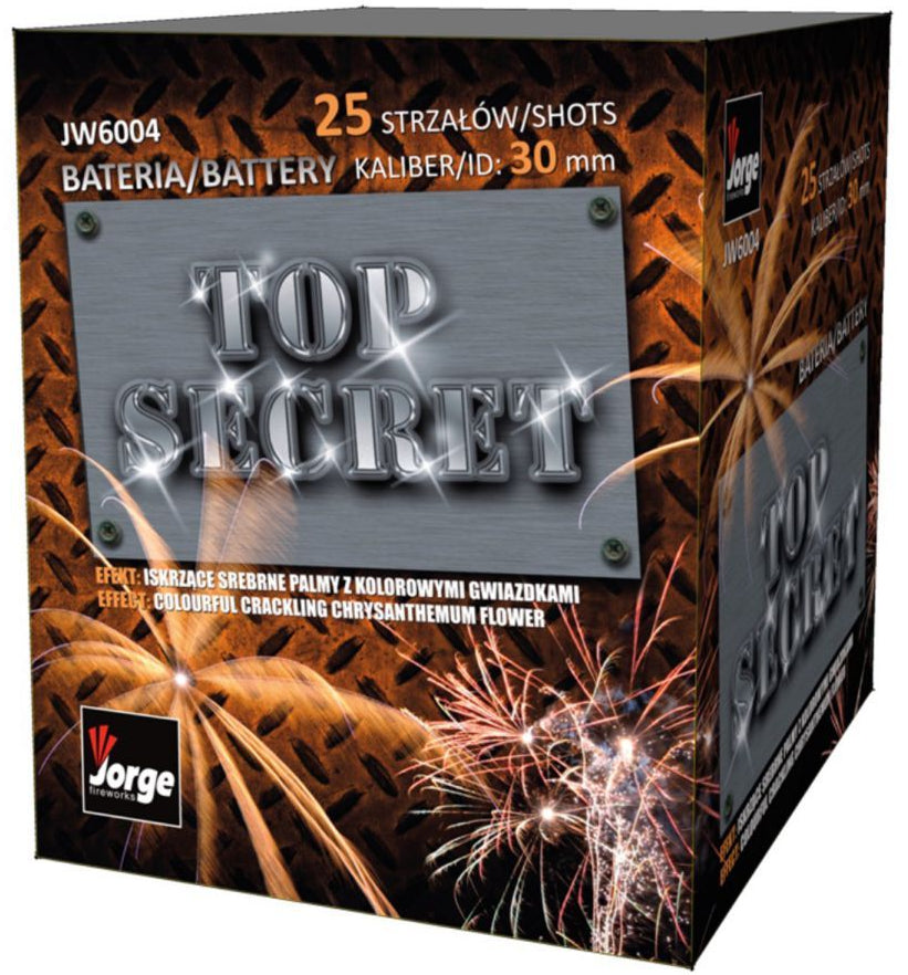 Top Secret - 25 shot Pro Display Barrage