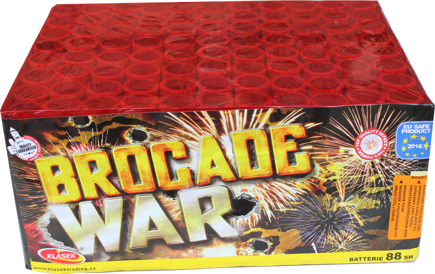 Brocade War - 88 shot 1.3G barrage (VERY LOUD)
