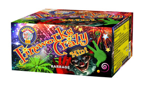 Fireworks Crazy Mini - 100 shot barrage