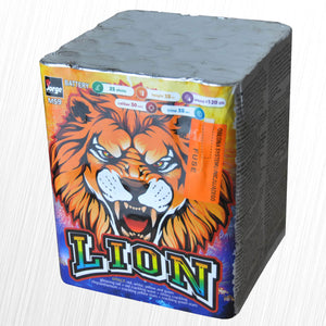 Lion Firework - 25 shot Pro Display barrage