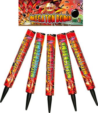 Megaton Bombs 1.3G Roman Candle (Pack of 5) - BUY 1 GET 1 FREE