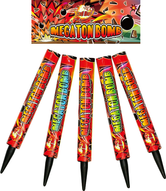 Megaton Bombs 1.3G Roman Candle (Pack of 5) - BUY 1 GET 2 FREE