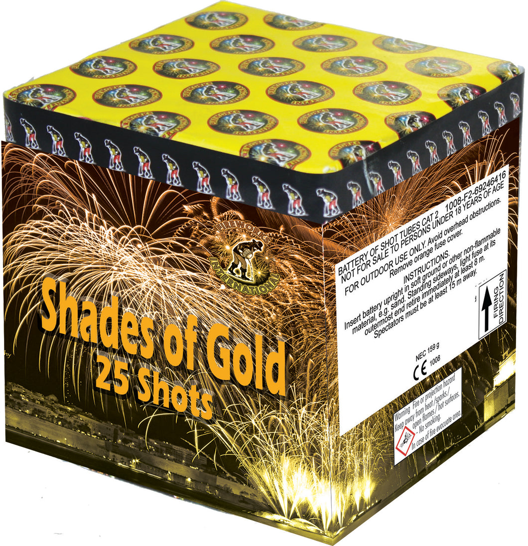 Shades of Gold - 25 shot barrage