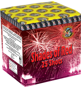 Shades of Red - 25 shot barrage - BUY 1 GET 1 FREE