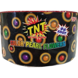 Colour Pearl Flowers - 96 shot barrage - BUY 1 GET 1 FREE