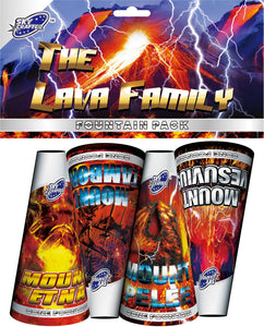 The Lava Family Fountains (Pack of 4)