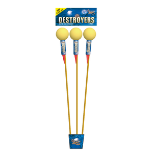 "Destroyers 1.3G Shell 3"" Ball Rockets (1 Pack of 3)"