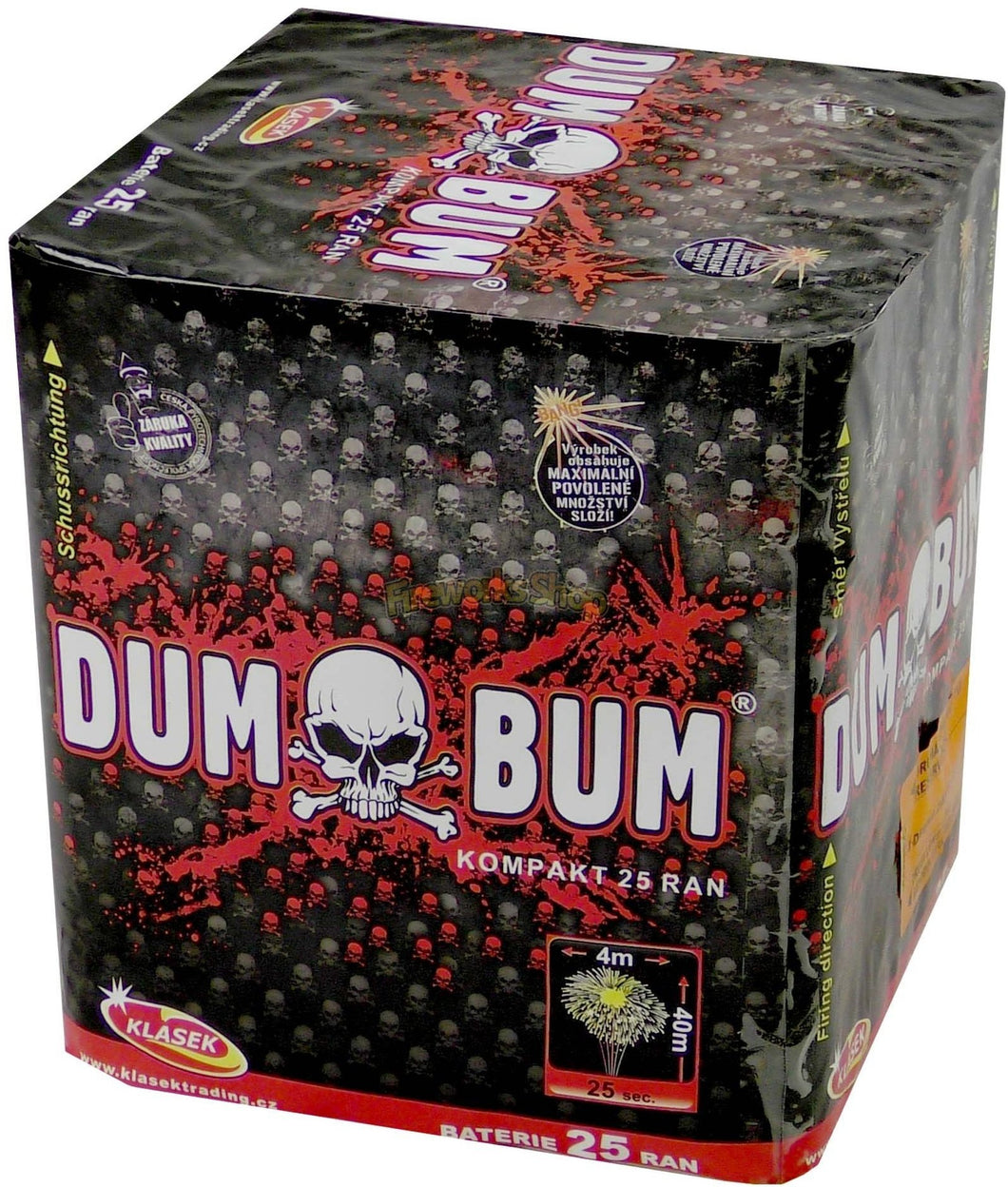 Dum Bum 25 shot barrage VERY LOUD!!