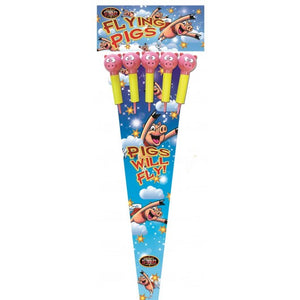 Flying Pigs 1.3G Rockets - Pack of 5 (IN STORE ONLY)