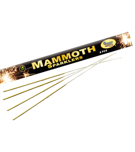 "18"" (45cm) Extra Long Gold Sparklers (Pack of 8) - 2 packs"
