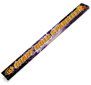 "18"" (45cm) Extra Long Gold Outdoor Sparklers - Pack of 5"