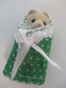 Baby Cuddle Wraps Green With White Spots