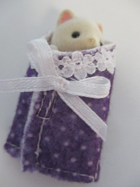 Baby Cuddle Wraps Purple With White Spots
