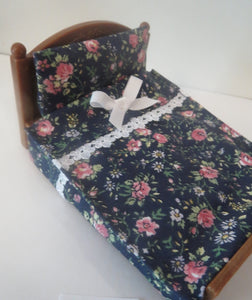 Double Bedspreads Navy Floral