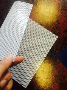 Translucent white perforated