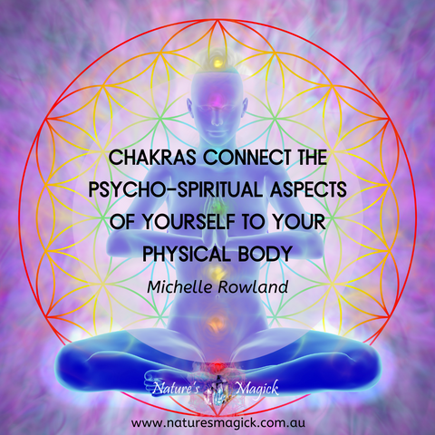 Chakras connect to the psycho-spiritual aspects