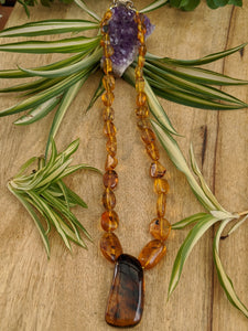 Amber (Dominican Blue Amber) necklace - Nature's Magick